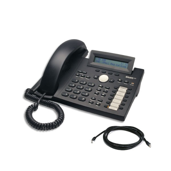 Snom 320 Telephone Black with network cable/